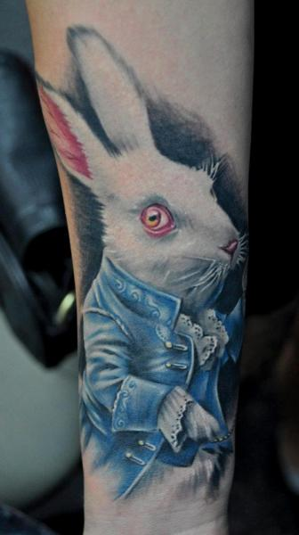 Fantasy Rabbit Tattoo by Benjamin Laukis