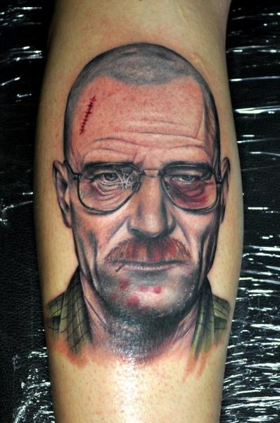 Tatuaje Brazo Retrato por Benjamin Laukis