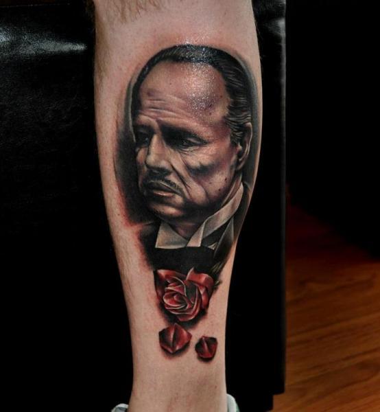 Arm Portrait Realistic Tattoo by Benjamin Laukis