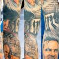 Sleeve Movie tattoo by Benjamin Laukis