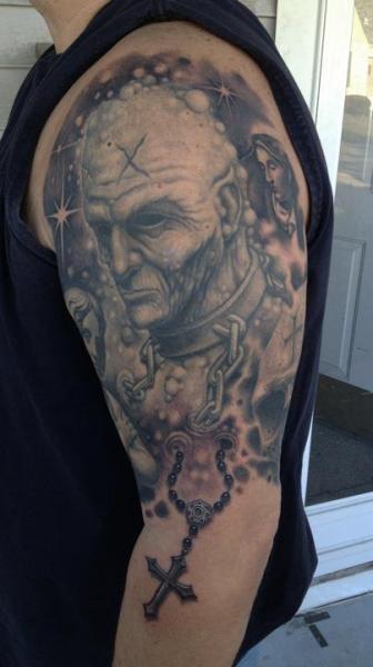 Shoulder Fantasy Tattoo by Bob Tyrrel