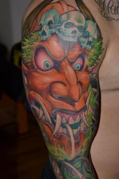Tatuaggio Braccio Giapponesi di Victor Chil