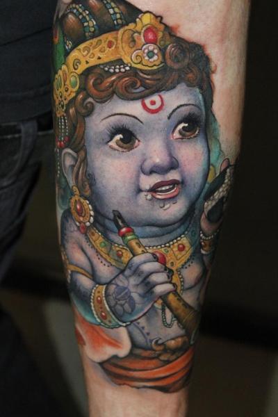 Arm Religiös Tattoo von Victor Chil