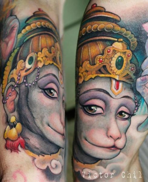 Arm Fantasie Affe Tattoo von Victor Chil