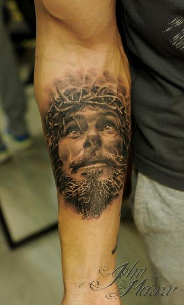 Arm Jesus Religious Tattoo by Radical Ink
