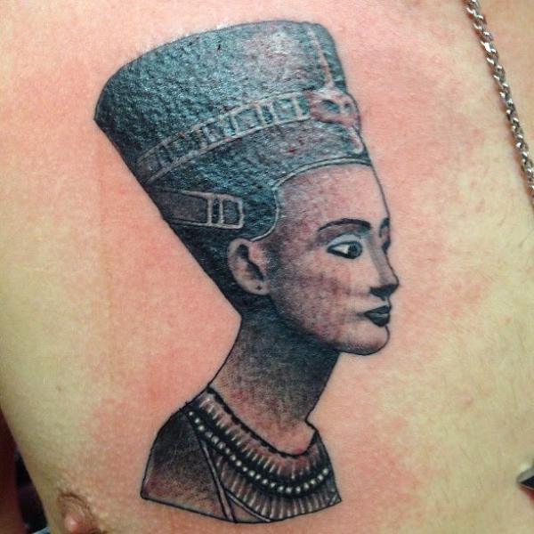 Chest Egypt Pharaoh Tattoo by Triple Six Studios