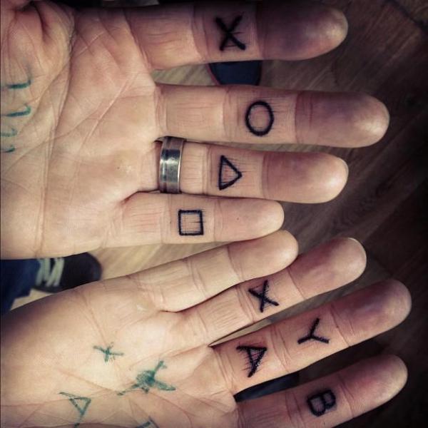 Finger Lettering Tattoo by Triple Six Studios