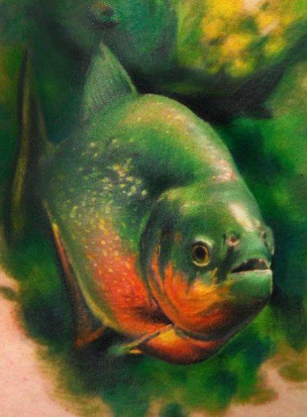 Realistic Fish Tattoo by Triple Six Studios