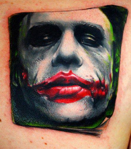 Fantasy Side Joker Tattoo by Triple Six Studios
