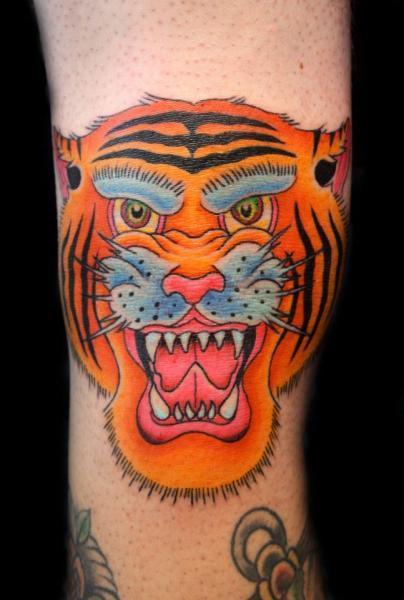Tatuaje Brazo Japoneses Tigre por Fatink Tattoo