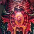 tatuaggio Biomeccanici Collo di Fatink Tattoo