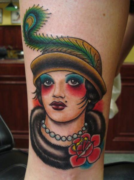 Arm Old School Women Tattoo by Power Tattoo Company