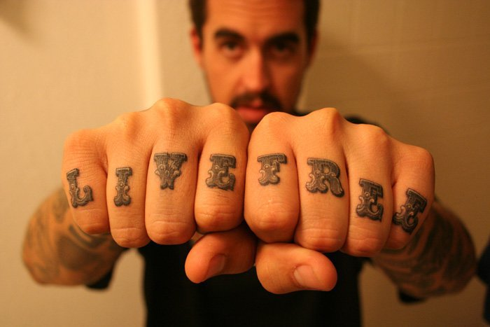 Finger Lettering Fonts Tattoo by Power Tattoo Company