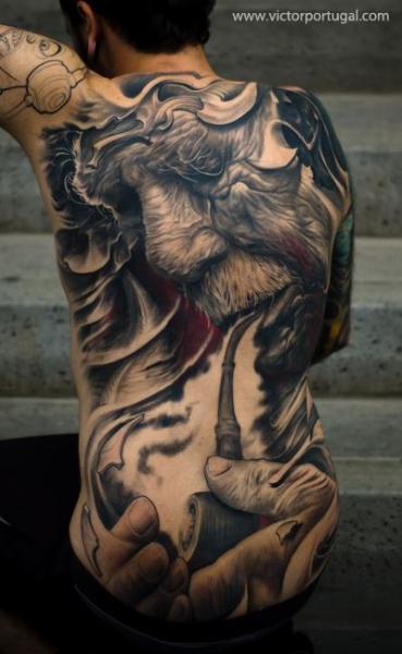Tatuaggio Ritratti Realistici Schiena di Victor Portugal