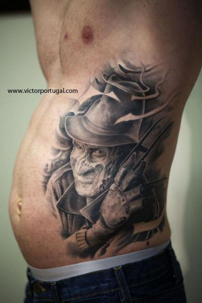 Fantasy Side Freddy Krueger Tattoo by Victor Portugal
