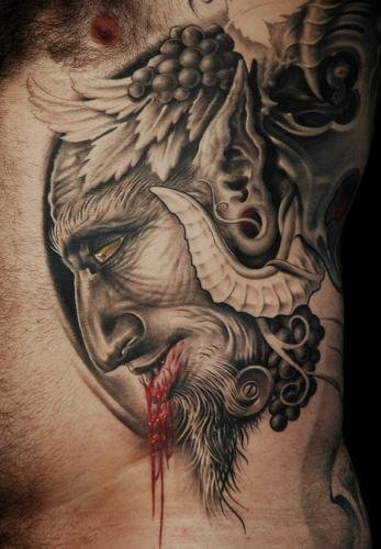 Fantasy Side Monster Blood Tattoo by Victor Portugal