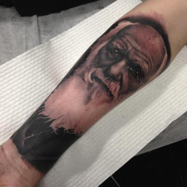 Arm Portrait Realistic Tattoo by Emily Rose Murray