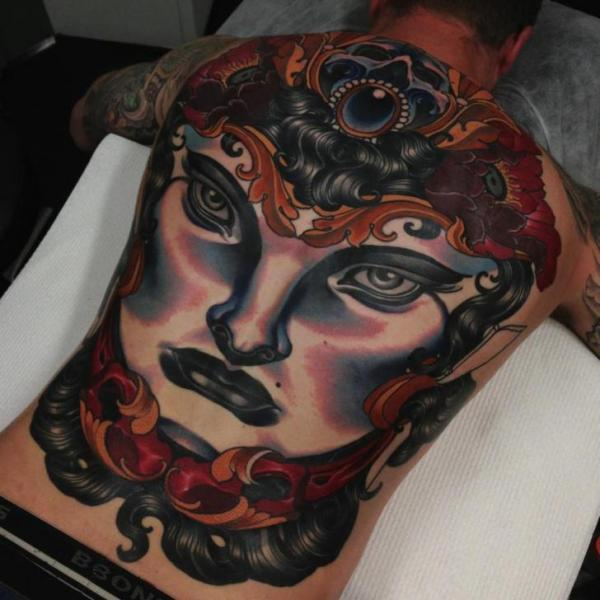 Women Back Tattoo by Emily Rose Murray