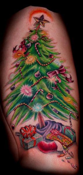 Arm Tree Tattoo by Salt Water Tattoo