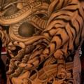 Japanese Back Tiger Butt tattoo by Salt Water Tattoo