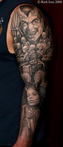 Skeleton Sleeve Tattoo by Steel City Tattoo