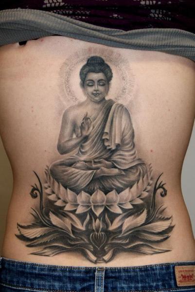 Buddha Back Religious Tattoo by Dark Raptor Tattoo