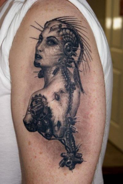 Shoulder Fantasy Women Tattoo by Dark Raptor Tattoo