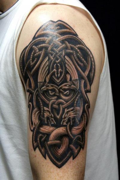Shoulder Tribal Tattoo by Dark Raptor Tattoo