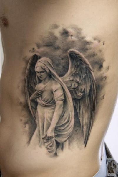 Fantasy Side Angel Tattoo by Dark Raptor Tattoo