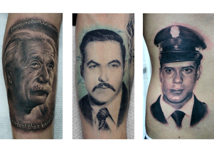 Arm Portrait Realistic Tattoo by Darwin Enriquez