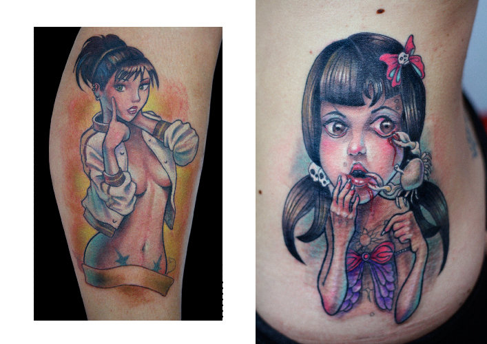 Arm Side Character Tattoo by Darwin Enriquez
