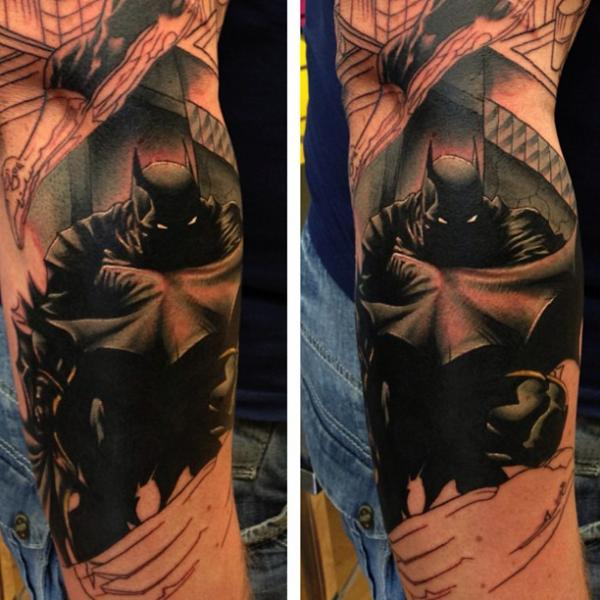 Arm Fantasy Batman Tattoo by Mike Stocklings