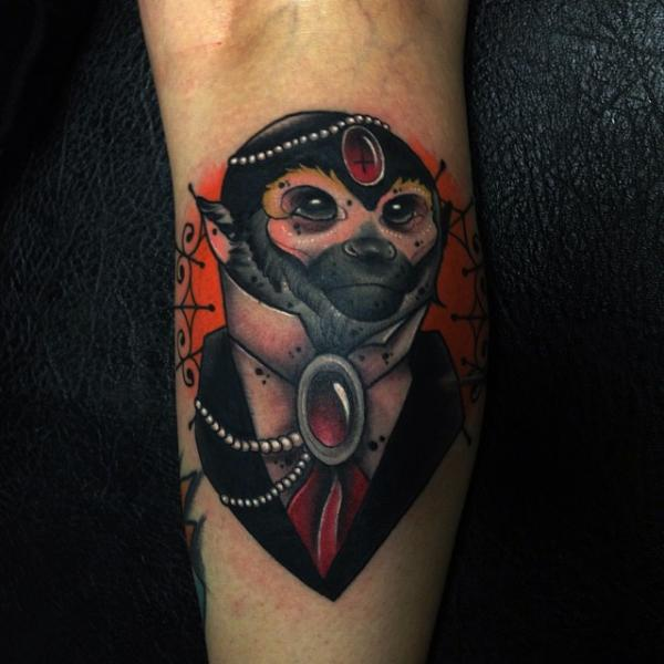 Arm Fantasy Monkey Tattoo by Mike Stocklings