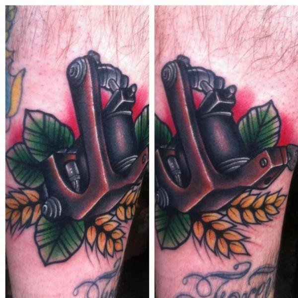 Arm New School Tattoo Machine Tattoo by Mike Stocklings
