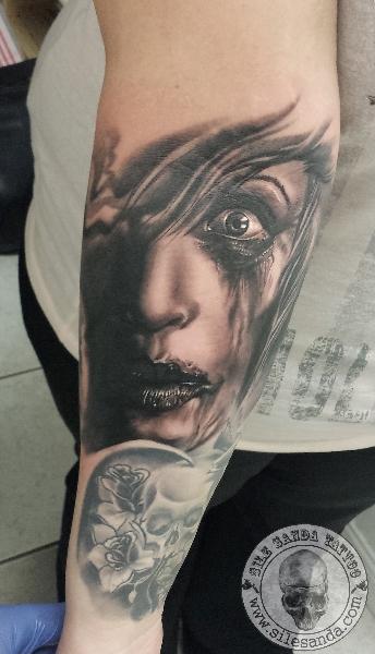 Arm Fantasy Tattoo by Sile Sanda