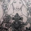 Back Religious Dotwork tattoo by The Lace Makers Sweat Shop