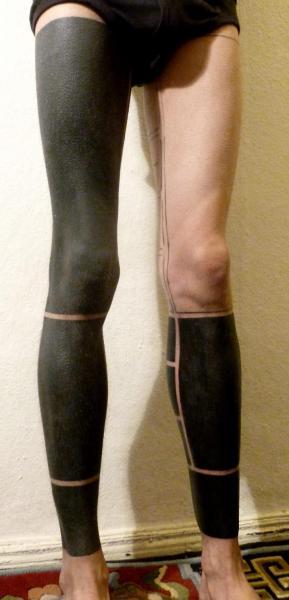 Leg Geometric Tattoo by The Lace Makers Sweat Shop