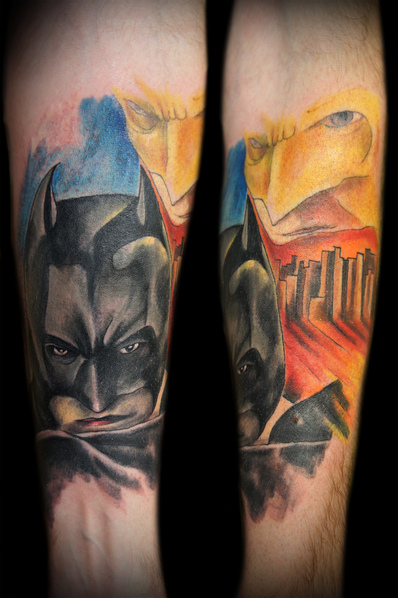 Arm Fantasy Batman Tattoo by Zulu Tattoo Dublin