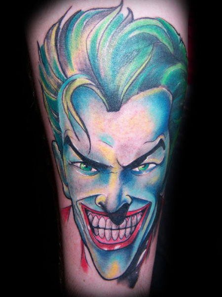 Tatuaggio Braccio Fantasy Joker di Zulu Tattoo Dublin