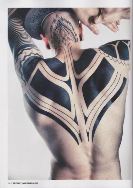 Arm Back Tribal Tattoo by 2 Spirit Tattoo