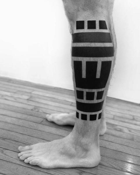 Leg Tribal Tattoo by 2 Spirit Tattoo