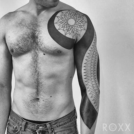 Shoulder Arm Tribal Tattoo by 2 Spirit Tattoo