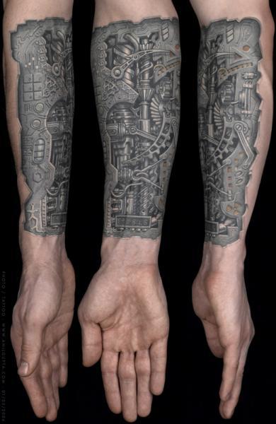 Arm Biomechanical Tattoo by Anil Gupta