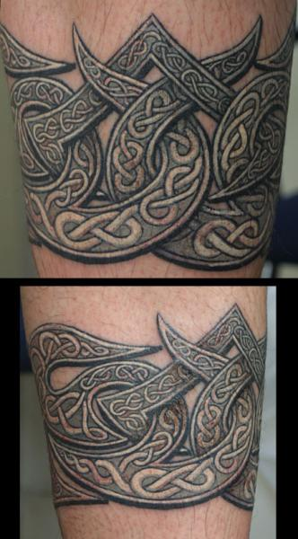 Arm Tribal Keltische Tattoo von Anil Gupta