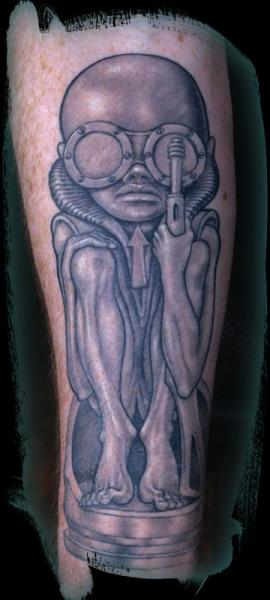 Arm Fantasy Alien Tattoo by Anil Gupta