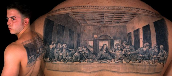 Back Religious Leonardo Tattoo by Anil Gupta