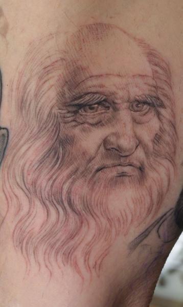 Portrait Draw Leonardo Tattoo by Anil Gupta