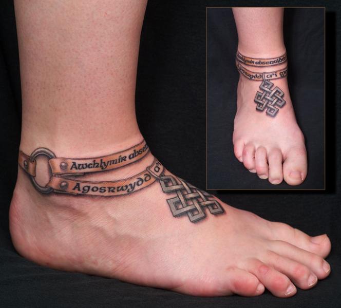 Foot 3d Tattoo by Anil Gupta