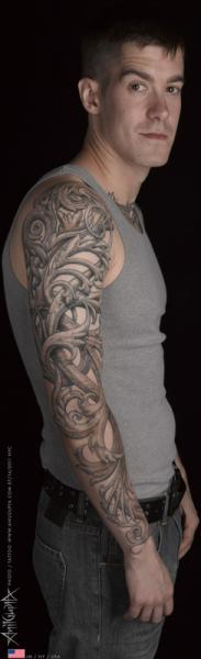 Fantasy 3d Sleeve Tattoo by Anil Gupta