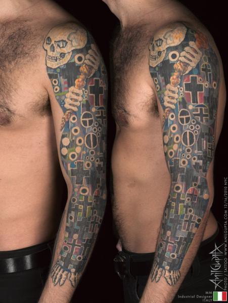 Fantasy Sleeve Tattoo by Anil Gupta
